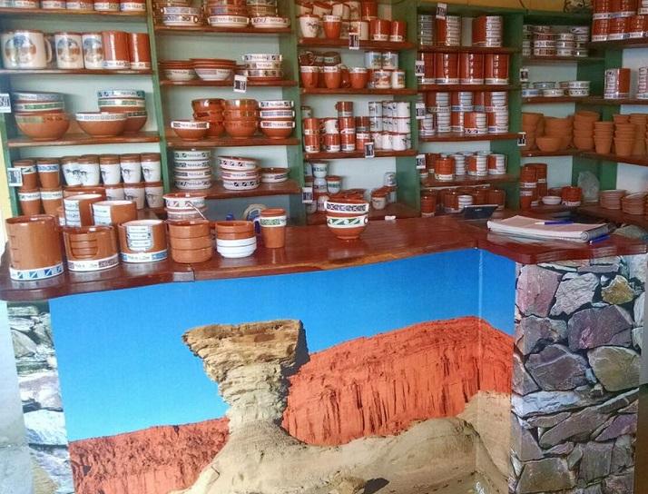 El puesto de Terracotta en el Parque Ischigualasto